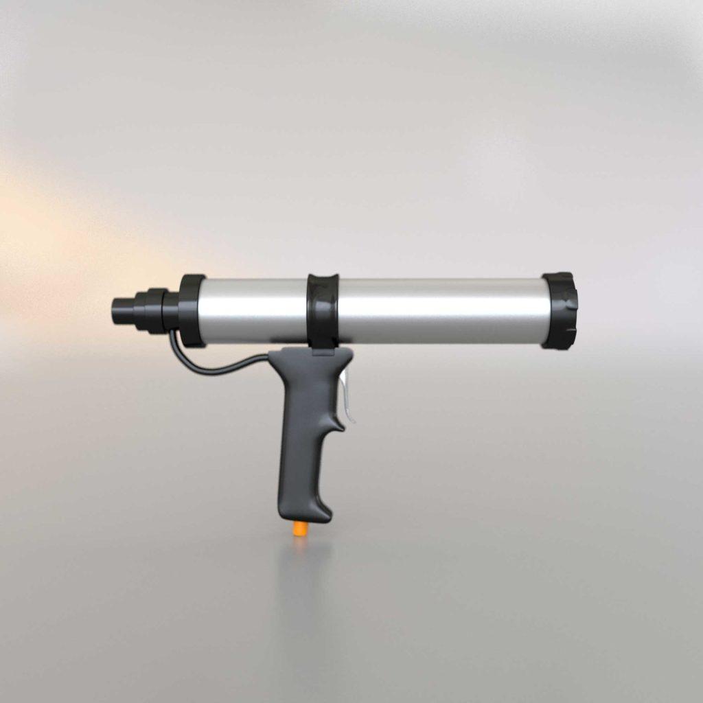 3Д модель строительного пневматического пистолета для герметика
