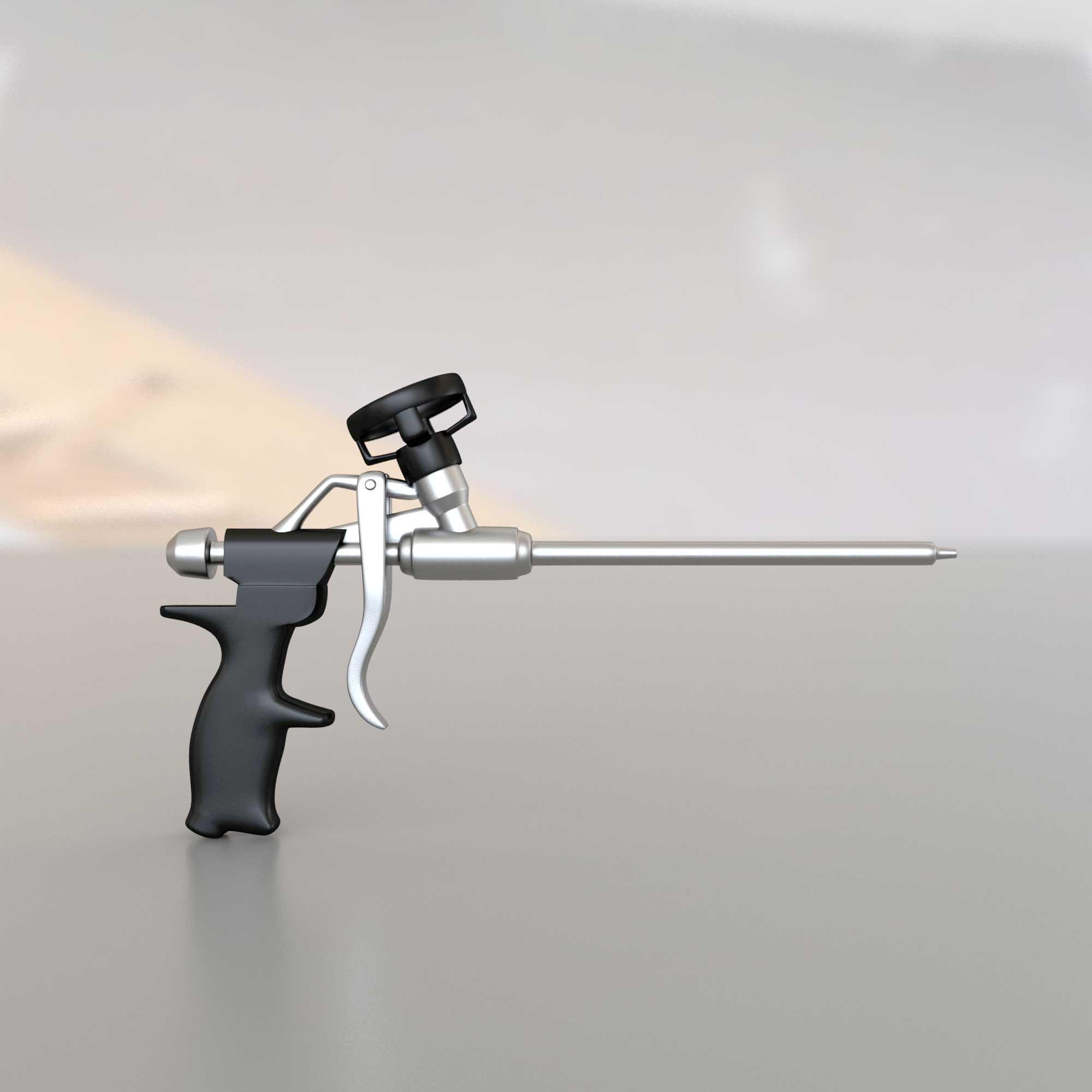 3Д модель строительного пневматического пистолета для монтажной пены