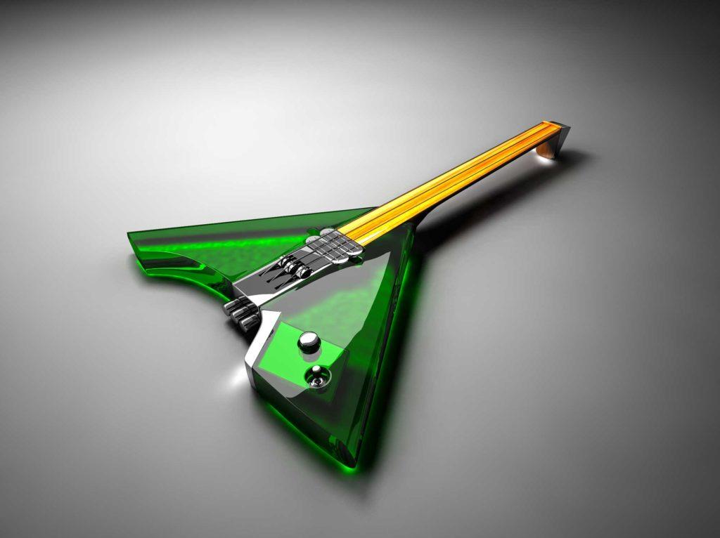 Стеклянные электронные инструменты - балалайка
