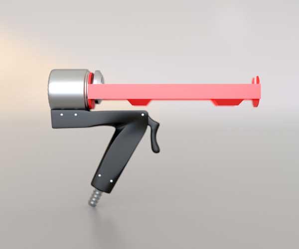 3Д модели строительных пистолетов для пен клеев и герметиков