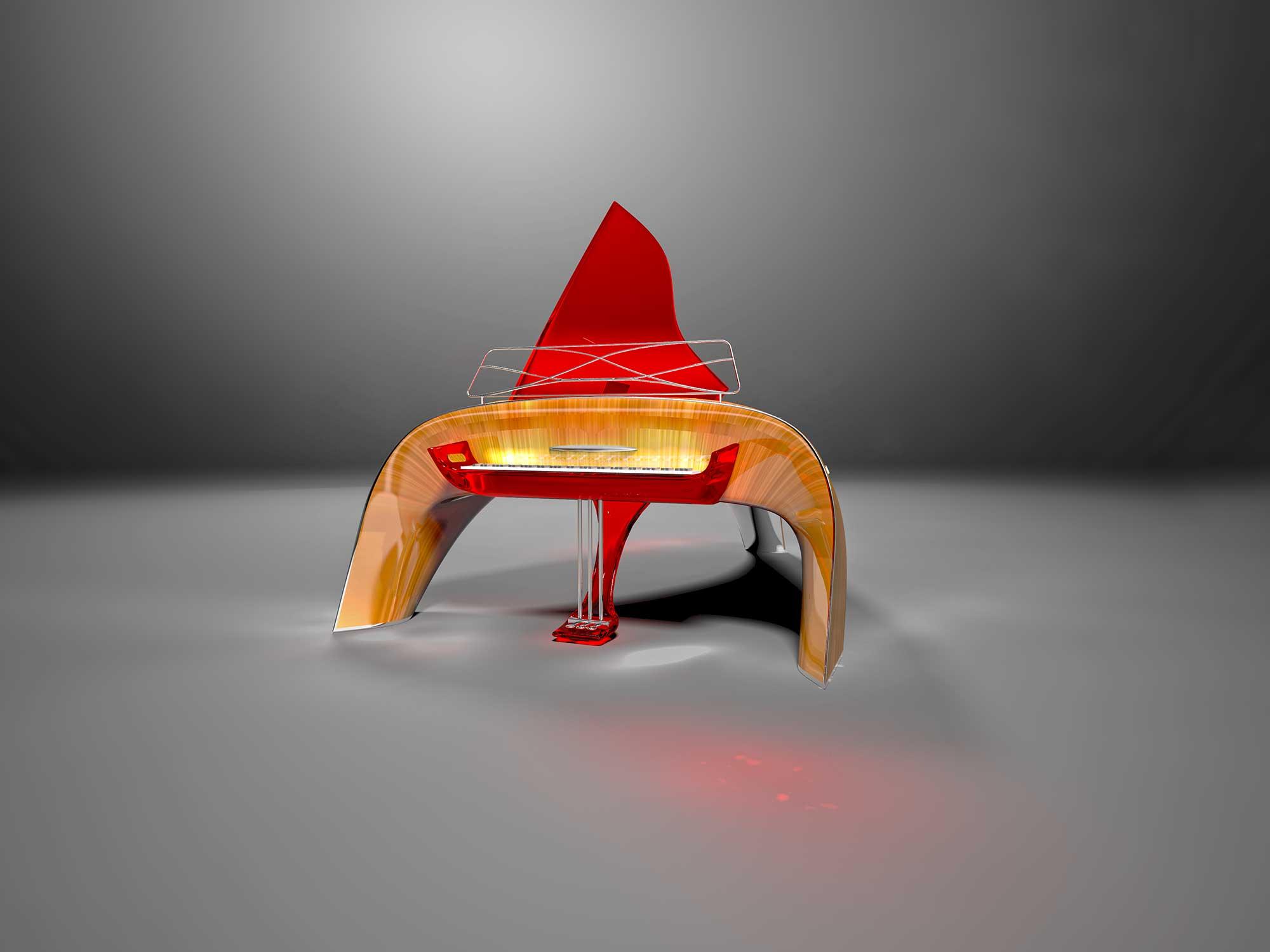 Стеклянные электронные инструменты - рояль